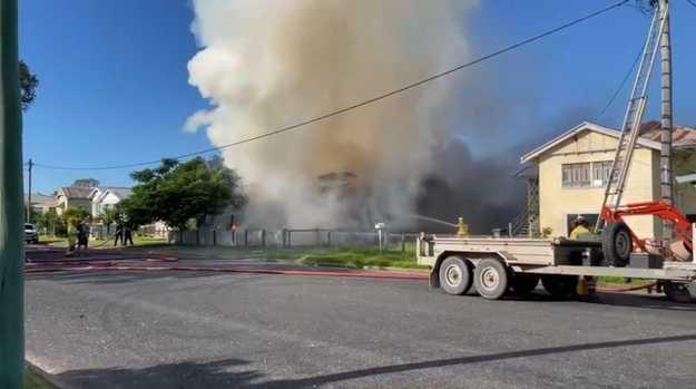 House fire at Garden St Maryborough
