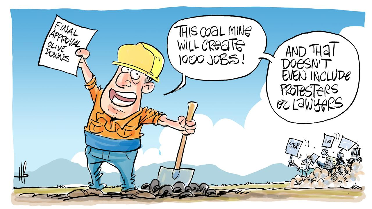Harry's view on Olive Downs coal mine approval.