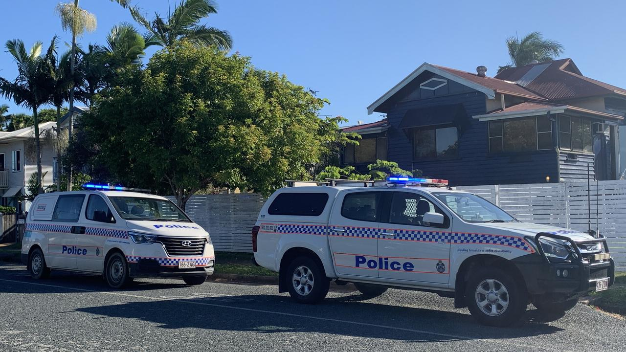 Police have rushed to a halfway house in Mackay CBD after reports of a person waving a gun around. Picture: Heidi Petith