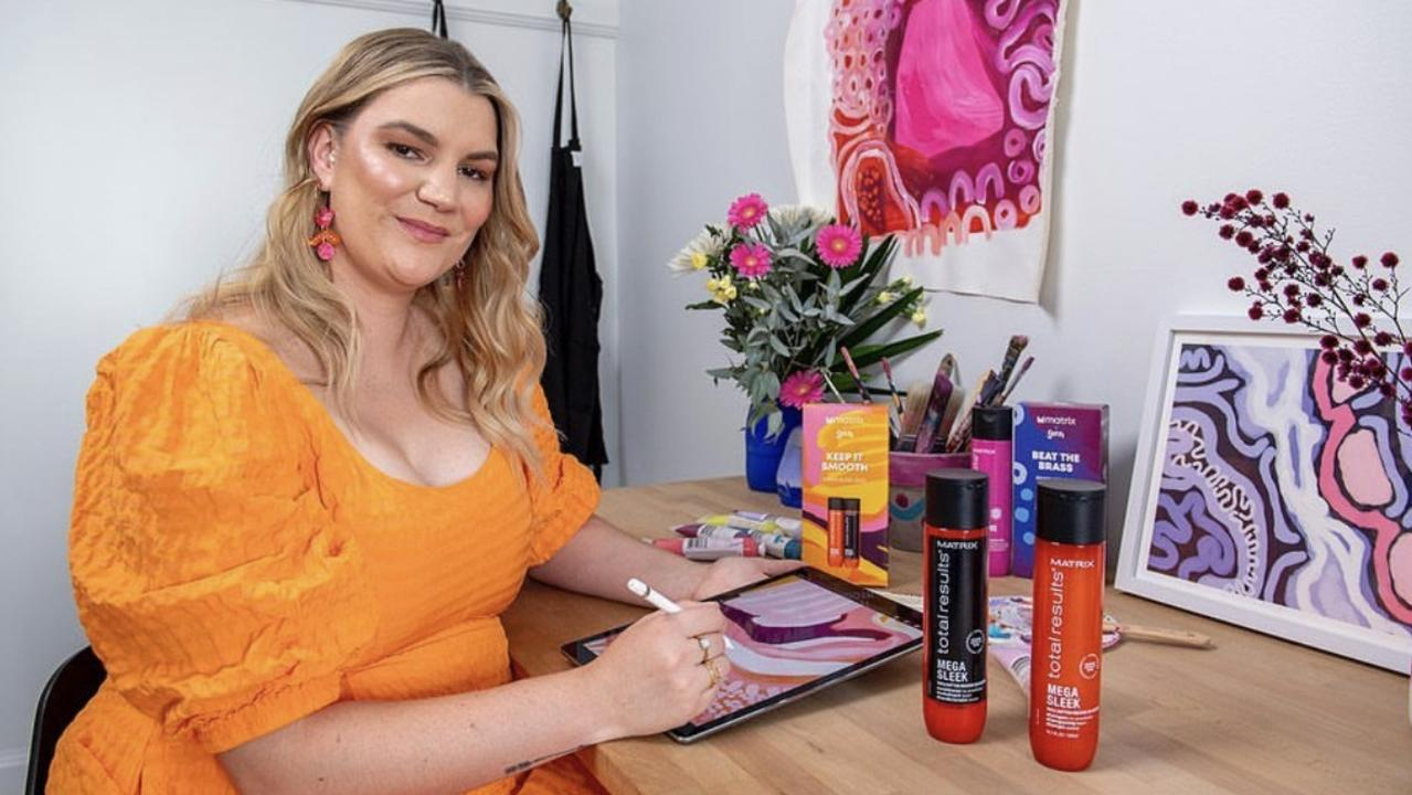 Goreng Goreng artist Rachael Sarra has joined forces with a leading hair care Matrix to deliver an inspiring collection that celebrates diversity and Australia's beautiful landscapes.