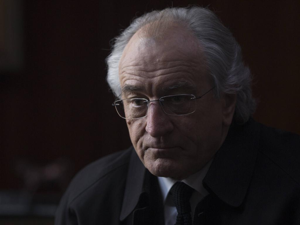 Robert De Niro pictured as Madoff in 2017 movie The Wizard of Lies.