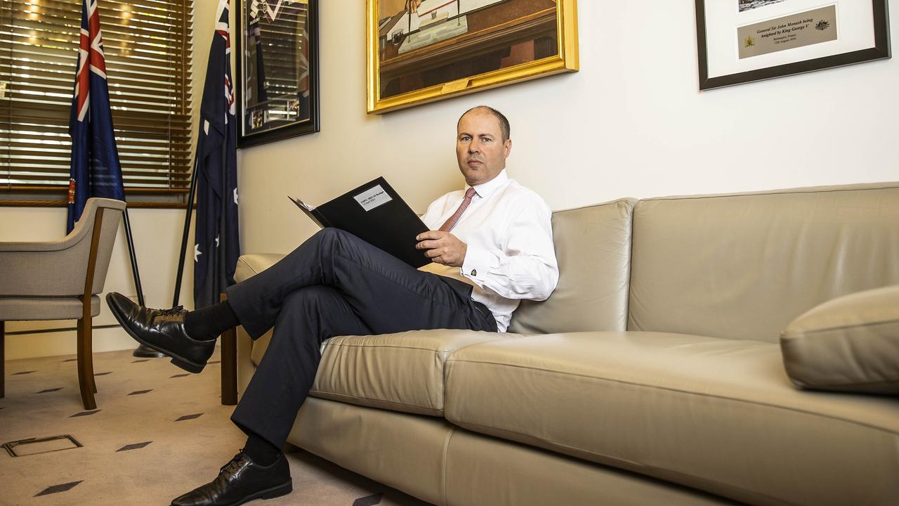 Treasurer Josh Frydenberg in Parliament House. Picture: Gary Ramage