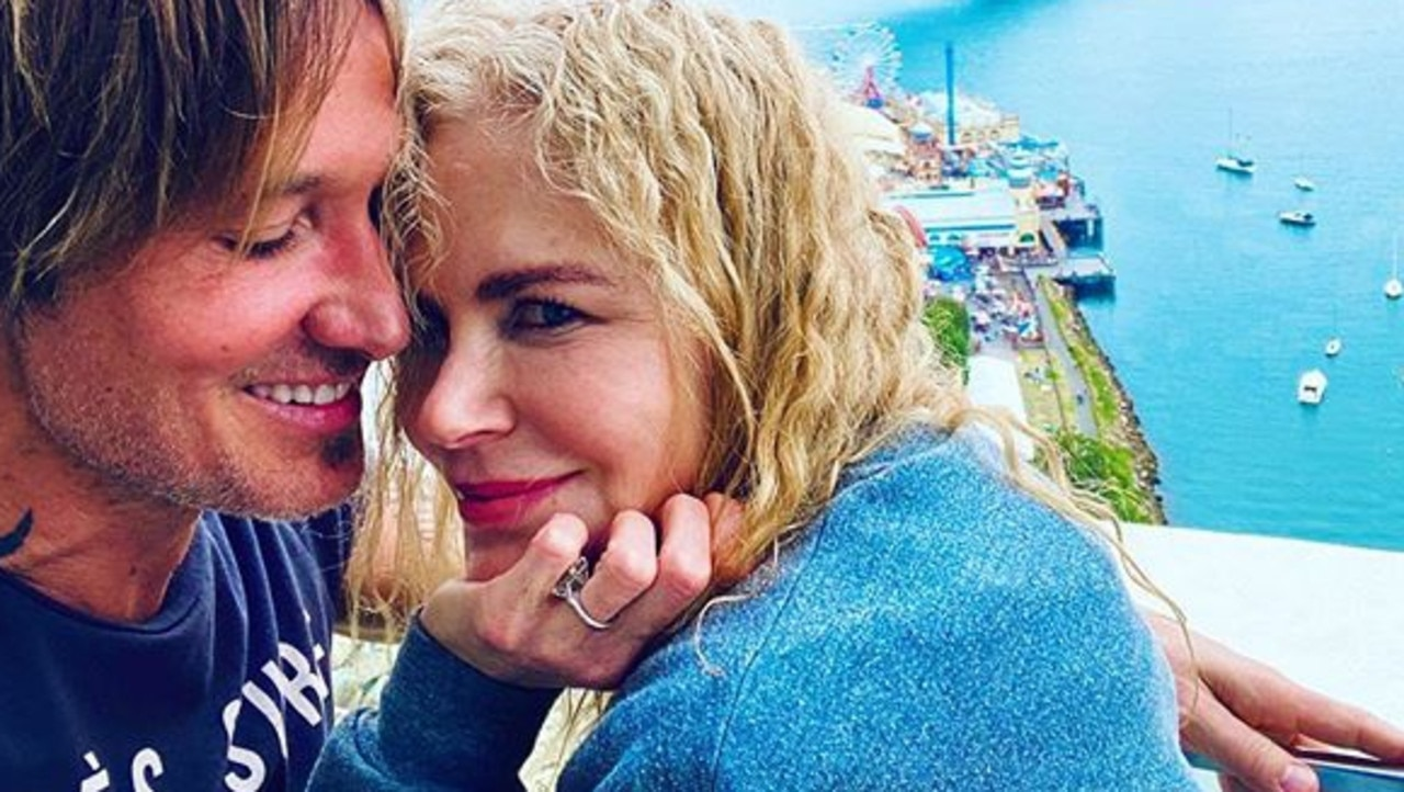 Nicole Kidman and Keith Urban at Milsons Point in Sydney. Picture: Instagram