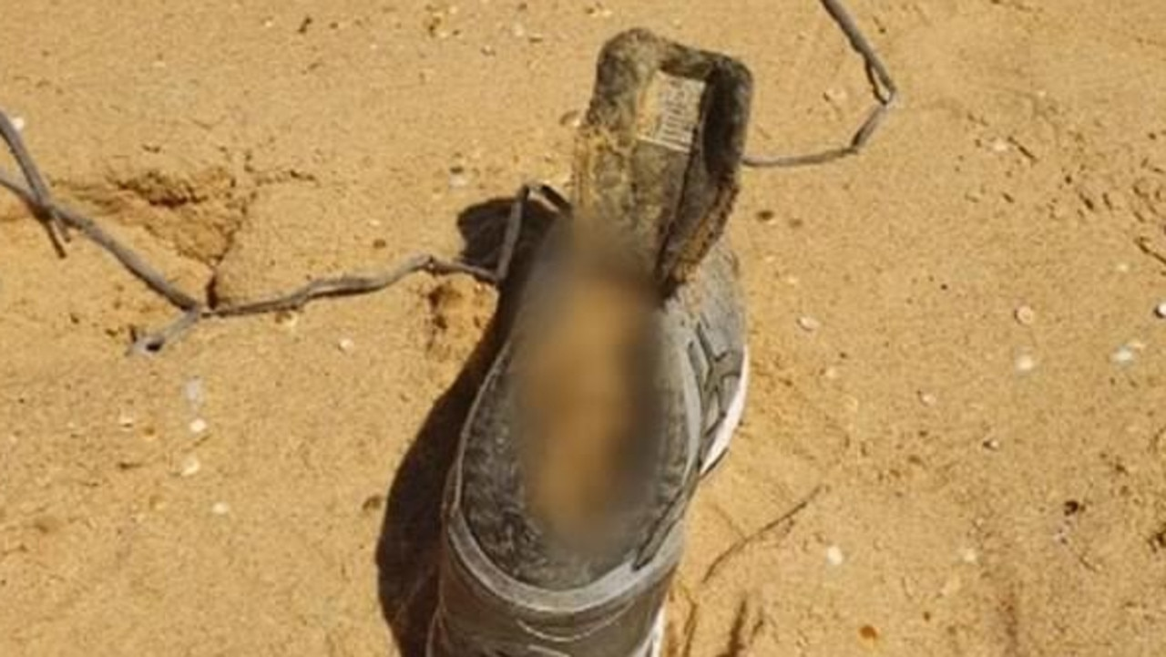 Her decomposed foot washed up on a NSW south coast beach. Picture: Supplied