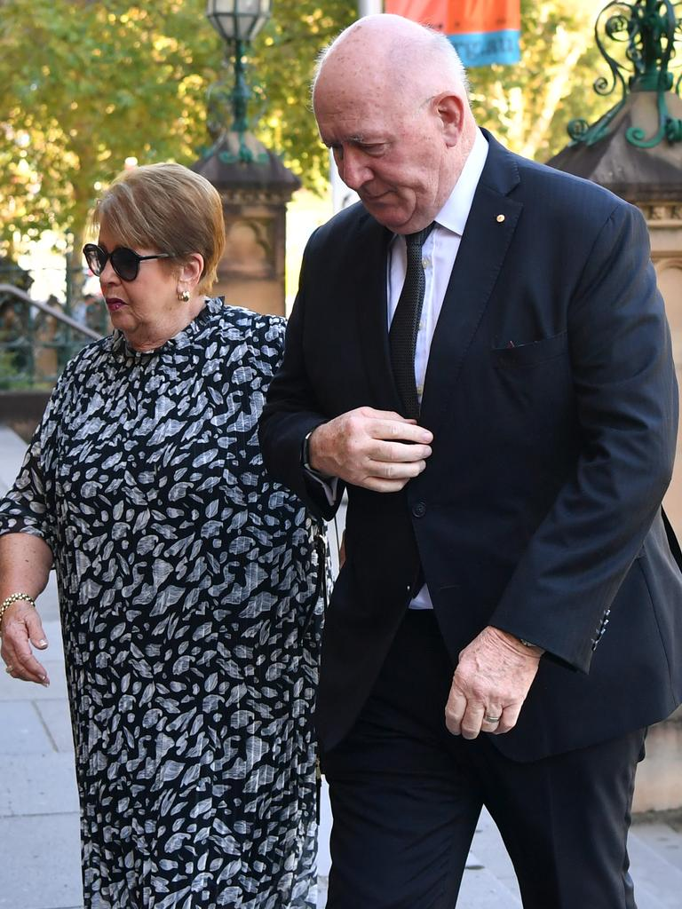 Lynne and Peter Cosgrove. Picture: NCA NewsWire/Joel Carrett