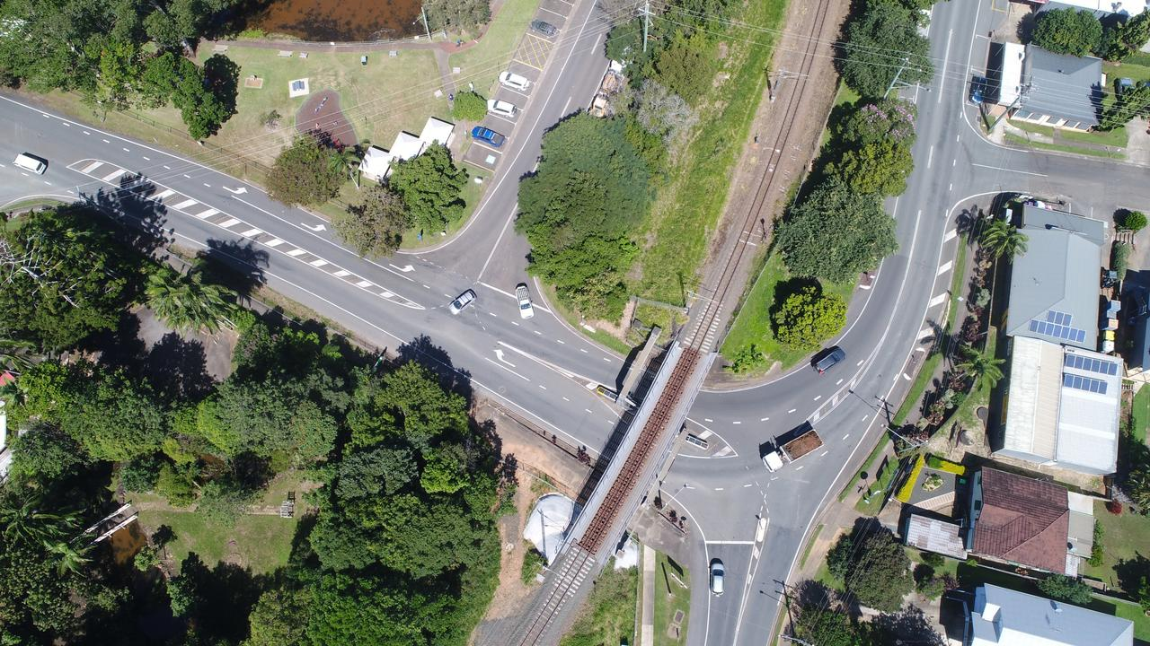A Palmwoods mother is urging the community to get behind a petition calling for urgent safety upgrades to several dangeours intersections in the hinterland town. Picture: Patrick Woods.