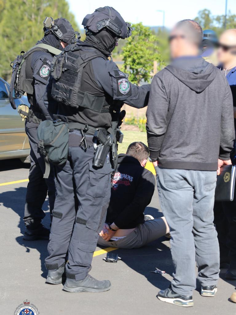 Ballina arrest during massive police raids across three states.