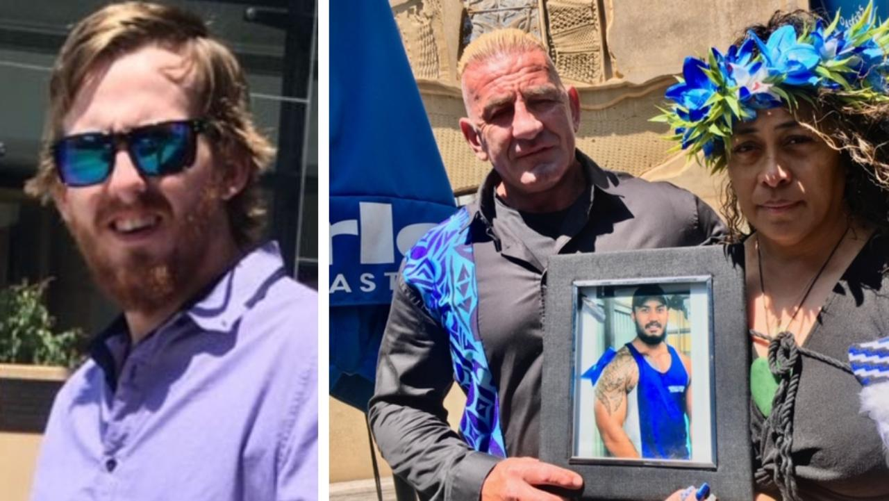 Jarod Hamilton (left). Ken Fuller and Lily Eruera with a photo of their son Shaquille. Photos by Ross Irby.