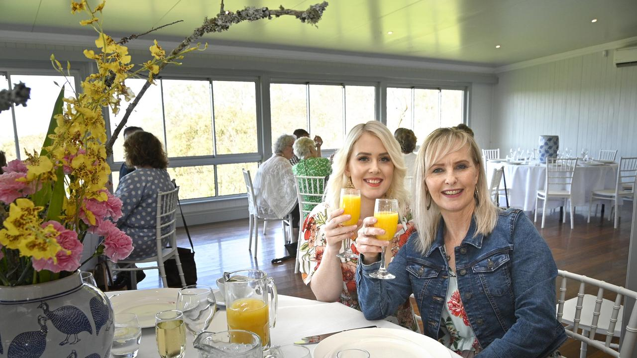 Roz King and Eleisha Hammel at Preston Estate's first high tea event.