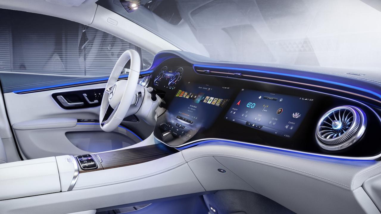 Benz's new 'Hyperscreen' runs the entire length of the dash.