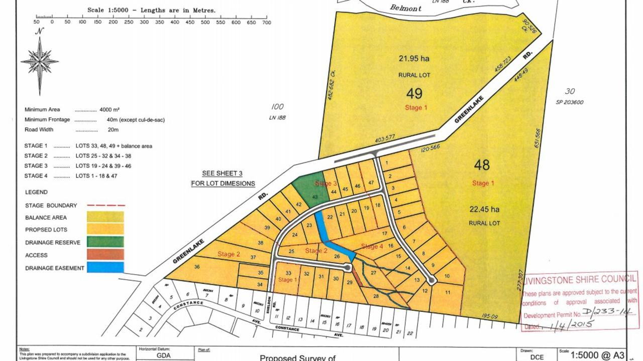 Plans for the development at 117 Greenlakes Rd, Rockyview, from 2014.