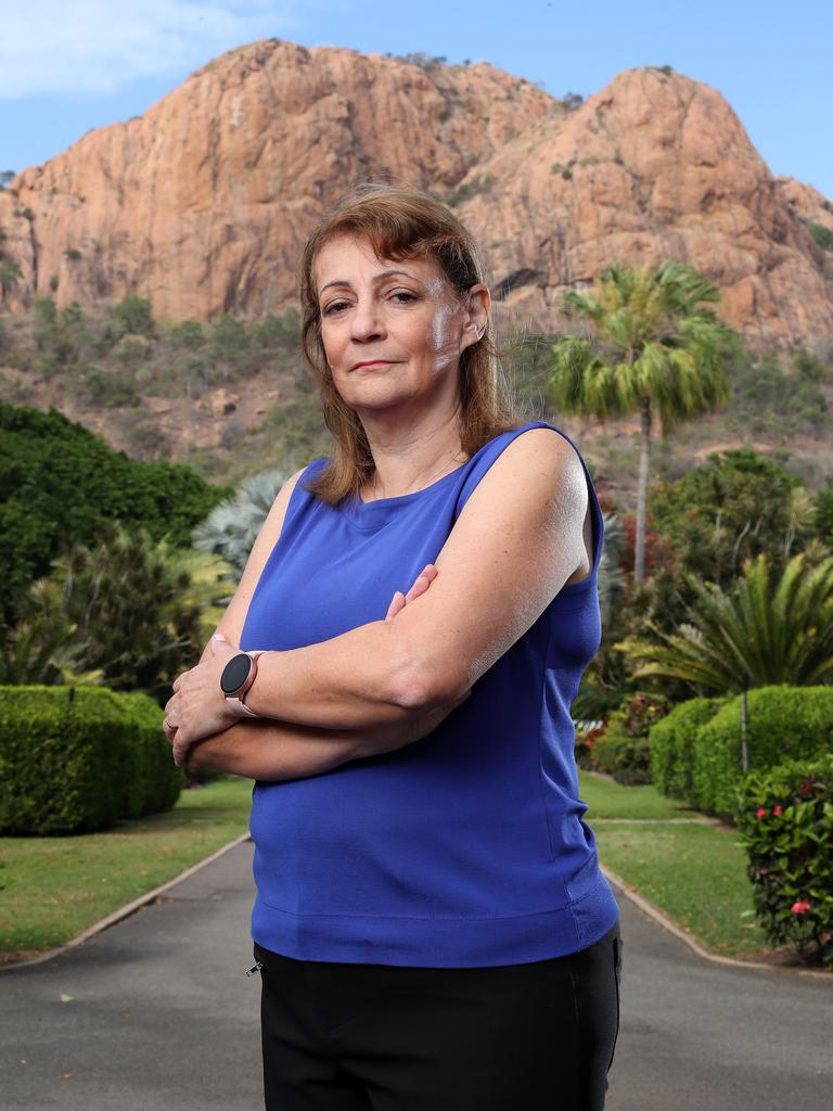 Mayor of Townsville Jenny Hill, in front of Townsville's iconic Castle Hill. Photographer: Liam Kidston.