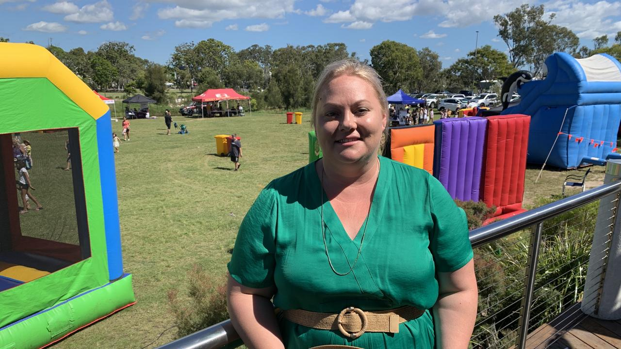Hervey Bay Neighbourhood Centre CEO Tanya Stevenson at the family fun day. Photo: Stuart Fast