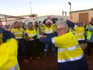 PM's bizarre dance routine for miners