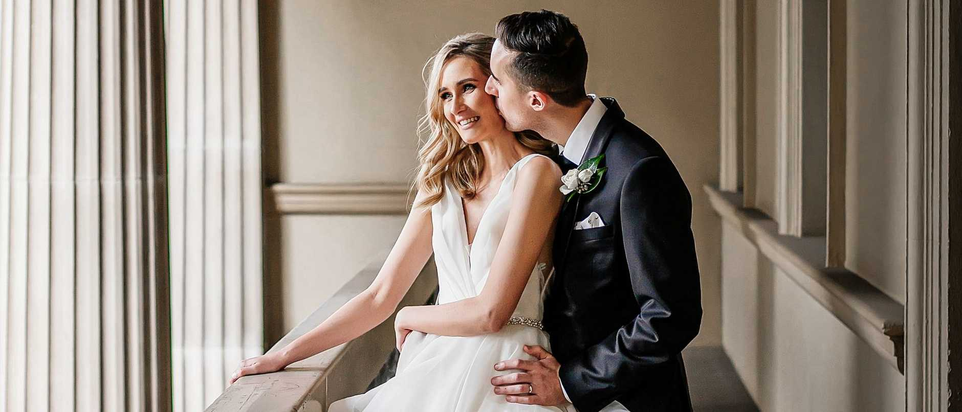 Wedding of Chloe Mulcahy and Samuel Heinrich. Picture: Evernew Photography