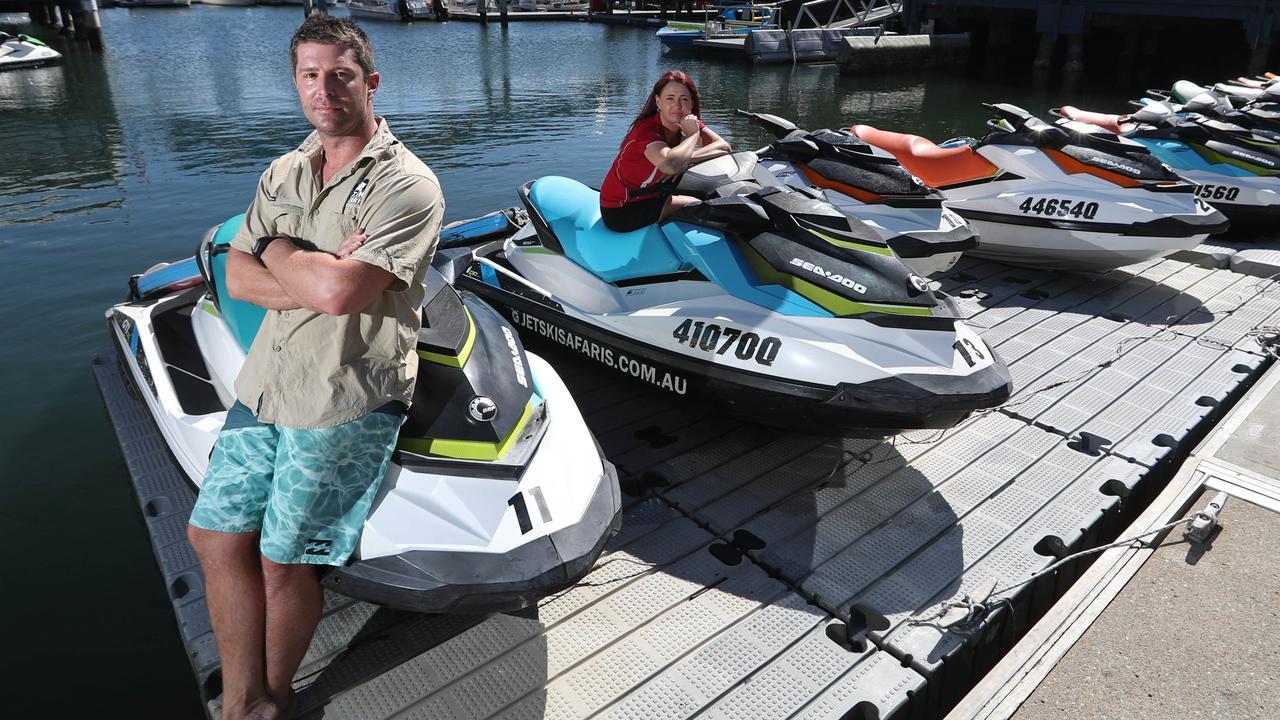 Adrian Bond, part-owner of Jetski Safaris Pty Ltd, at Mariners Cove Marina, Main Beach, Gold Coast. photo: Lyndon Mechielsen