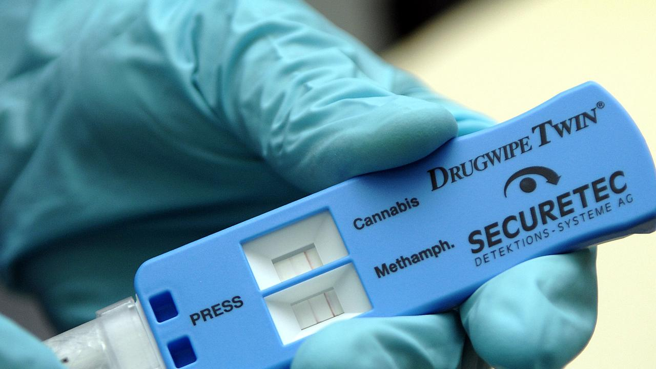 A roadside drug test revealed the truck driver had methylamphetamine in his system when he blocked the motorway. 