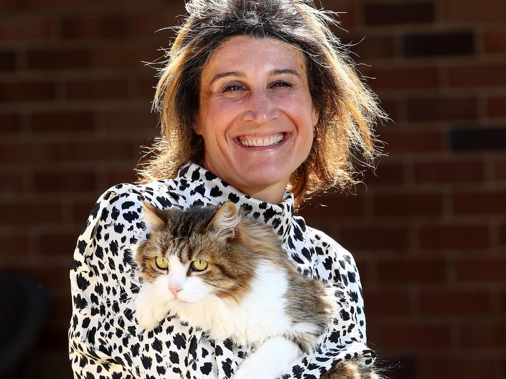 Dr Magdoline Awad with cat Rexa. Picture: Toby Zerna