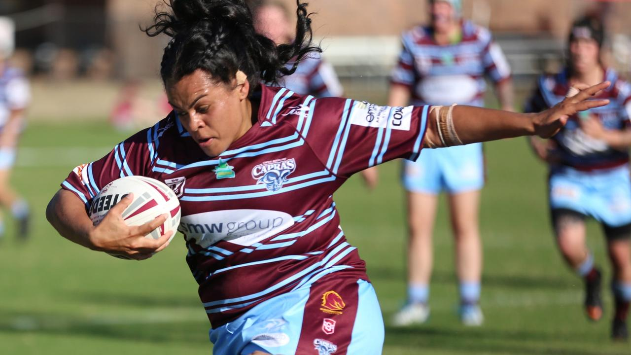 CQ Capras forward Mikayla Roe. Photo: Colleen Edwards/QRL