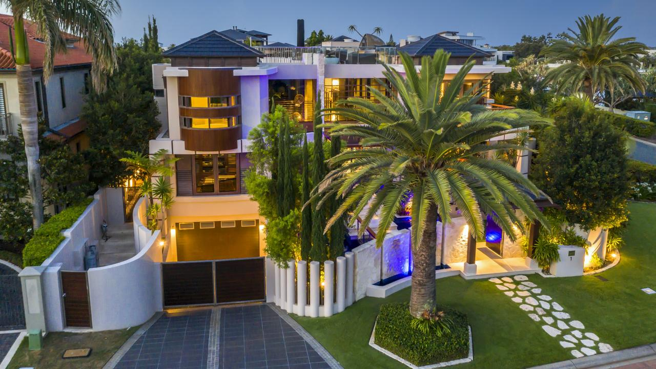 The price paid for the Paul Clout-designed waterfront home makes it the biggest sale on the island this year and one of the biggest for the Gold Coast in 2021