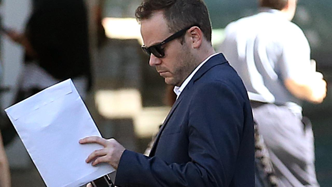 David Butler leaves the Brisbane Supreme court. Mr Butler is the alleged victim in the trial of former Block contestant Suzi Taylor and her roommate Ali Ebrahimi. Picture: NCA NewsWire /Jono Searle