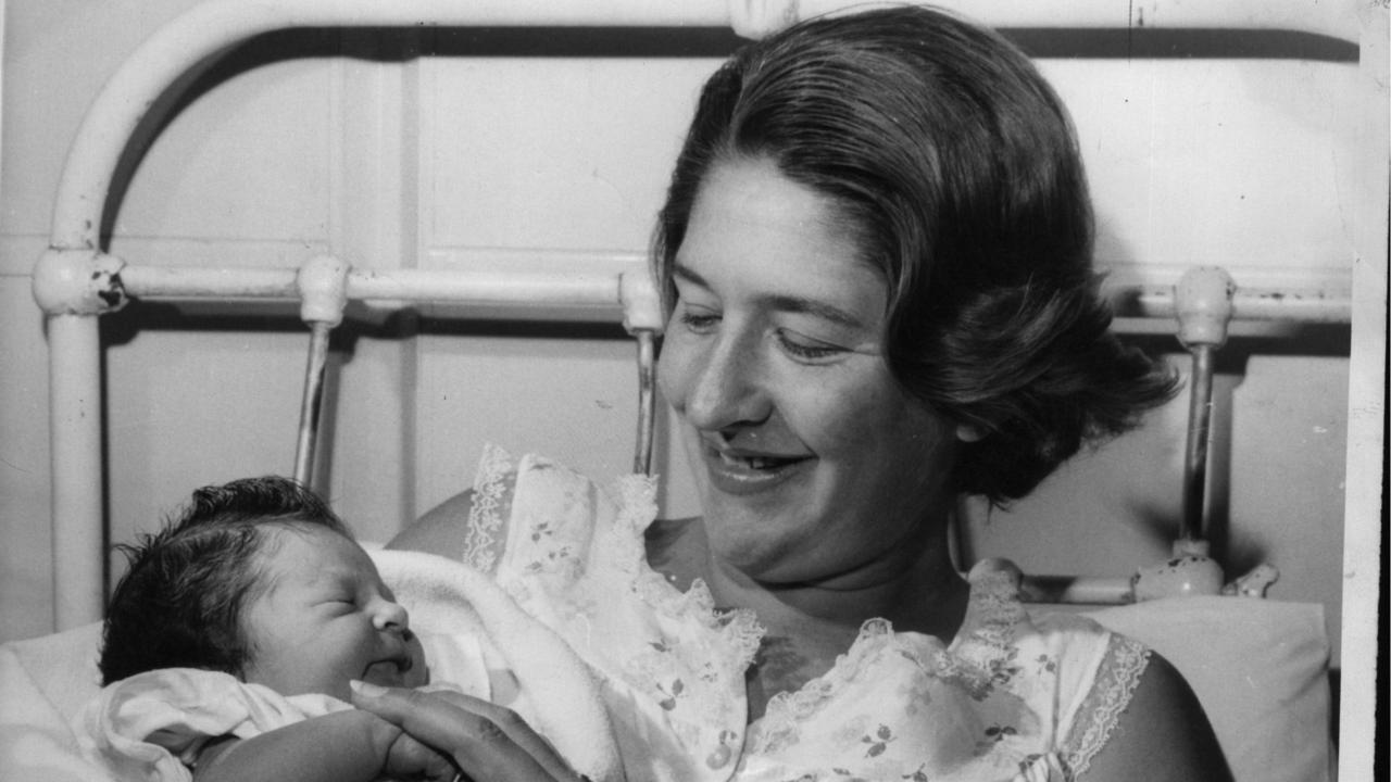 Love of her life: Dawn Fraser with her baby daughter, Dawn-Lorraine.
