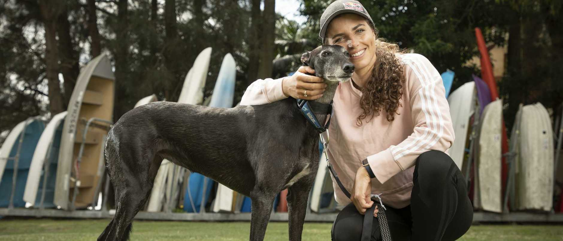 Jess Fox hit rough waters when the Tokyo Olympics were postponed last year due to the COVID-19 pandemic and found a lifeline in greyhound Pink.