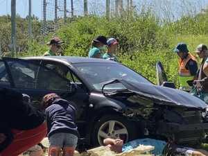 Young lifesavers thrown into deep end at car crash