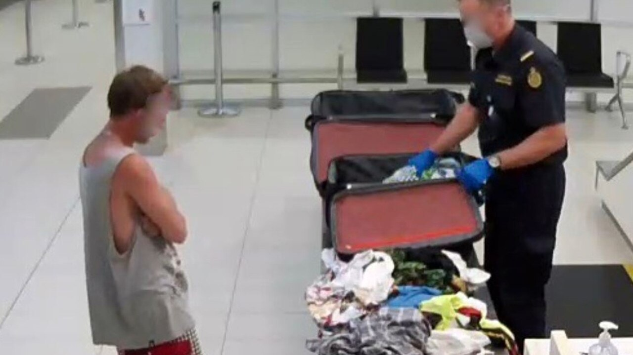 Michael Alexander Curtis, 36, at Gold Coast Airport on March 21 last year. Picture: AFP