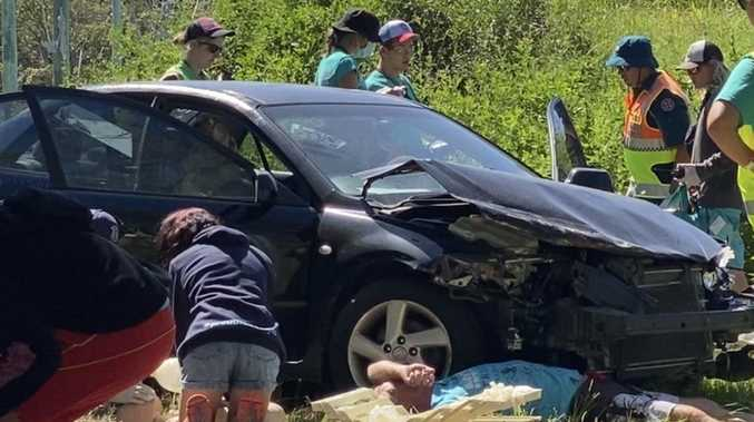 Young lifesavers thrown into deep end at car crash