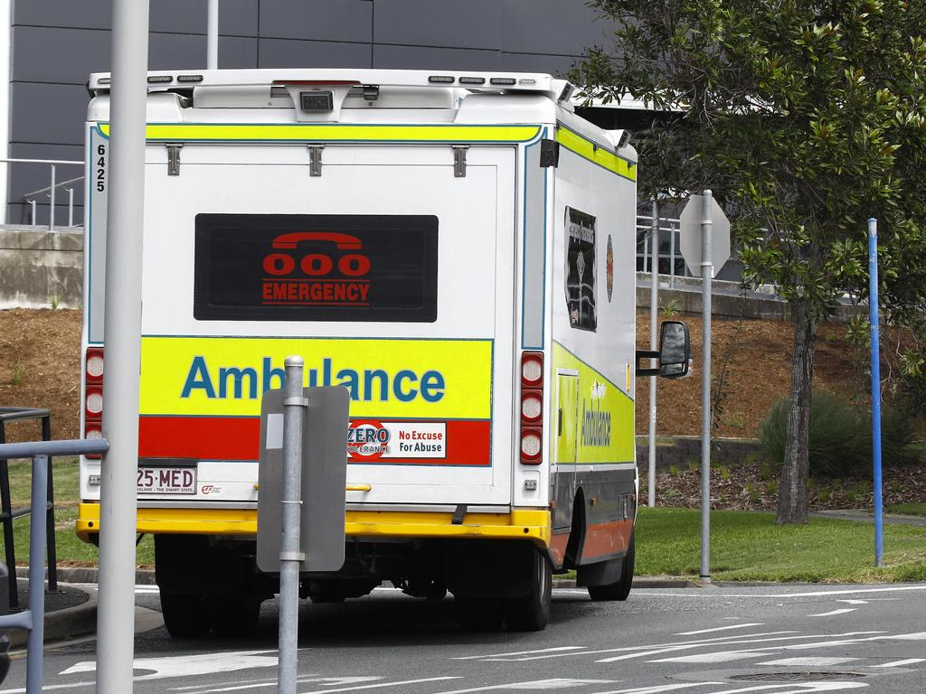Paramedics rushed a person to hospital after a vehicle crashed into a pole at Noosaville early on Saturday morning. Picture: Tertius Pickard