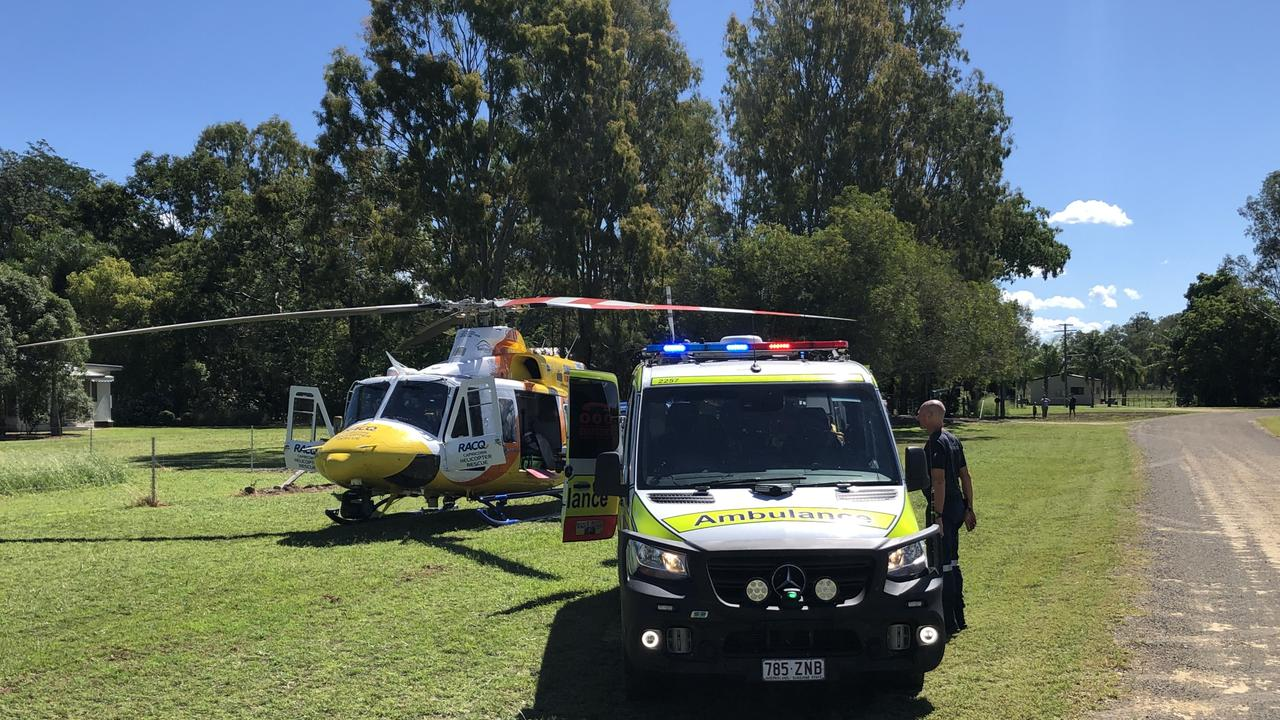 RACQ Capricorn Rescue was tasked to the Boyne Valley on Friday morning after a man suffered a suspected a snake bite.