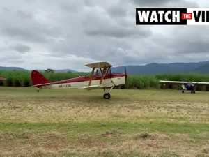 Tiger Moth takes flight at Finch Hatton