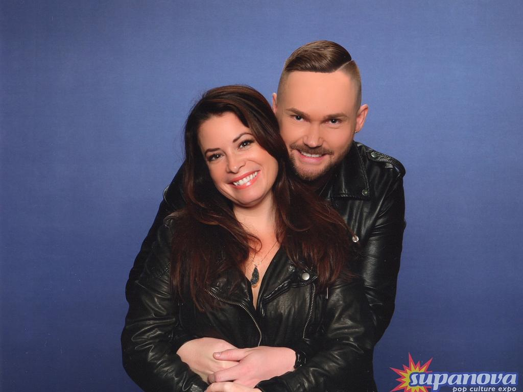 Troy Kellahan with Holly Marie Combs at Supanova in Brisbane. Picture: Supplied
