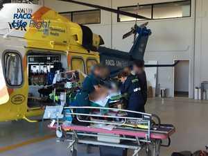 Chopper flies rider to Brisbane with serious injuries