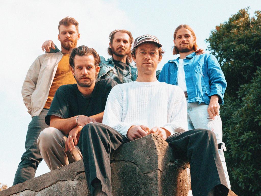Australian band The Rubens. Picture: Supplied/Cybele Malinowski