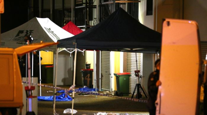 Authorities investigating the shooting deaths of two people in Caboolture on Saturday night. Picture: David Clark