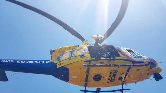 One male flown to hospital after motorbike crash near Gympie