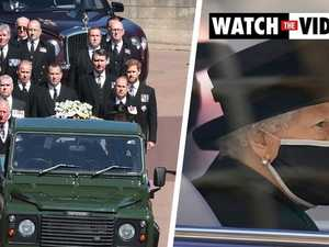 Royals escort Prince Philip's coffin to funeral service