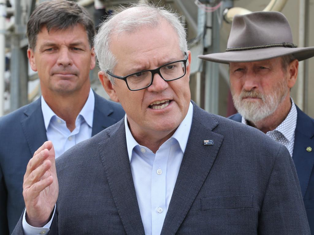 Prime Minister Scott Morrison has urged vulnerable Australians to continue making appointments to get the COVID-19 vaccine. Picture: NCA NewsWire / Dean Martin.