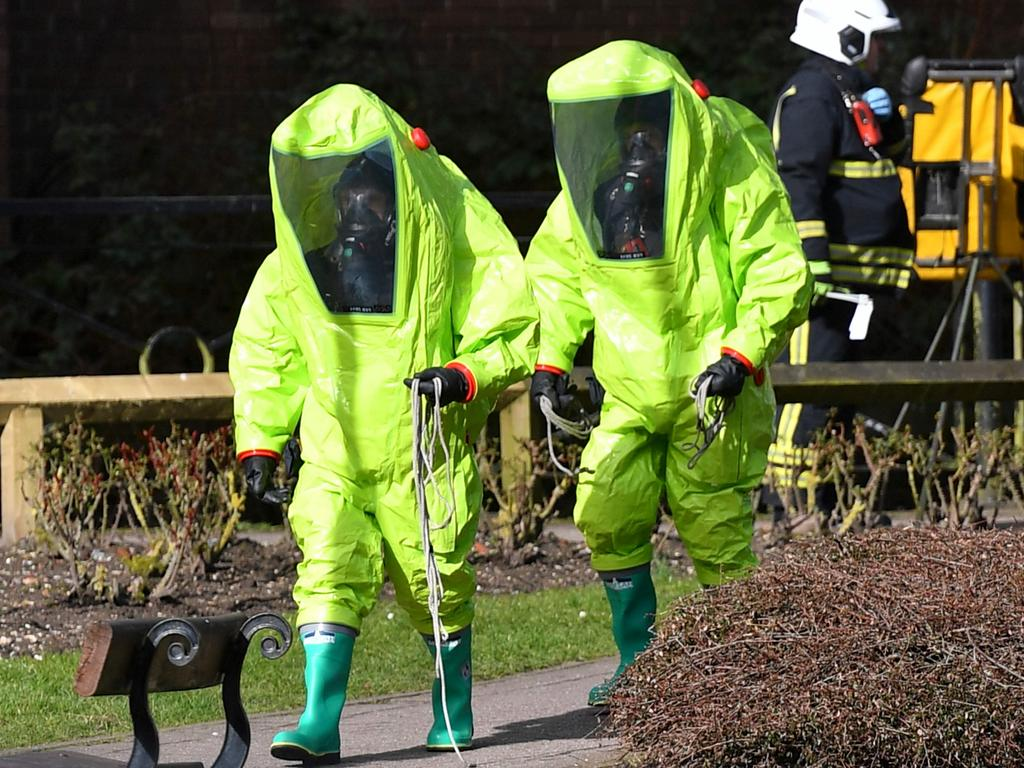 The poisoning in Salisbury, UK in 2018 killed three people including a Russian former double-agent. Picture: Ben Stansall/AFP