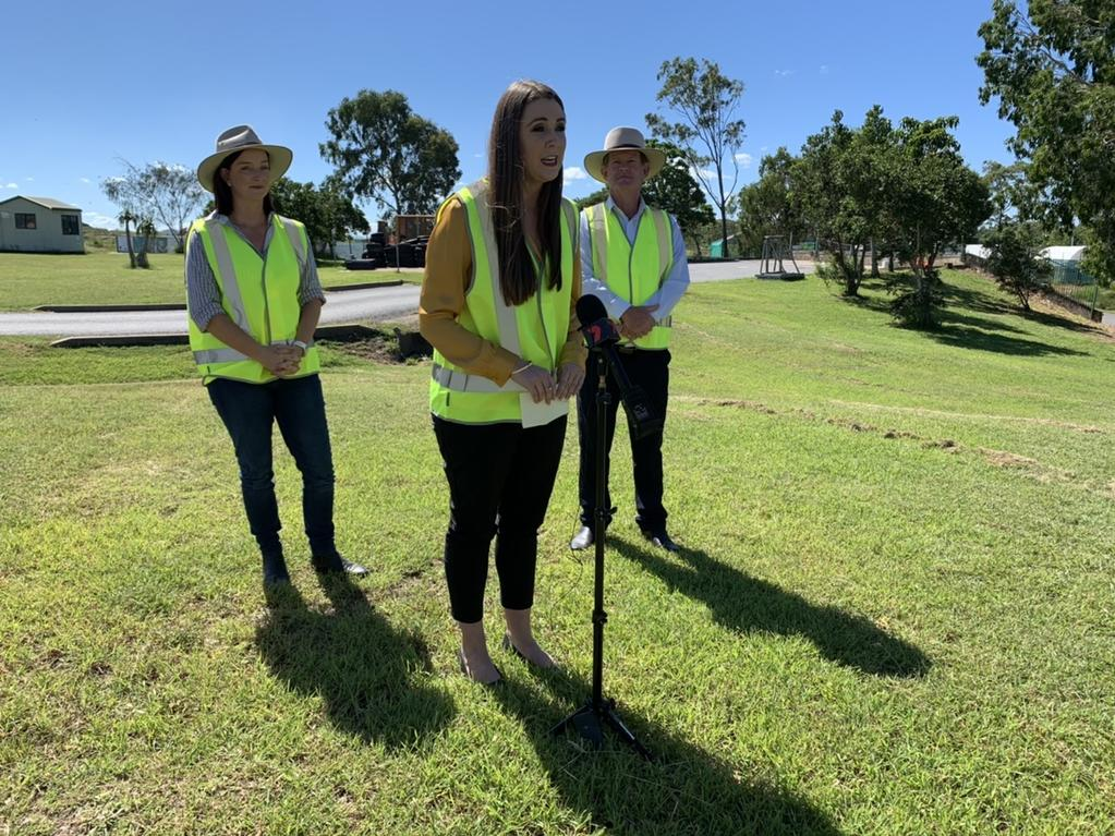 The Queensland Government has announced they want to see Central Queensland go plastic-free. (From left) Member for Keppel Brittany Lauga, Minister Meaghan Scanlon and Livingstone Mayor Andy Ireland.