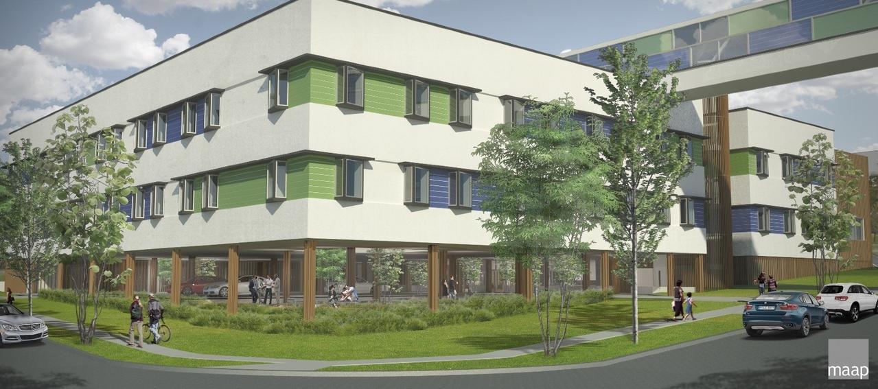 Artist's impression of Acute Mental Health Unit at Ipswich Hospital. Construction will start next week.