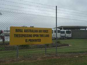 Thief's brazen act after RAAF base break-in