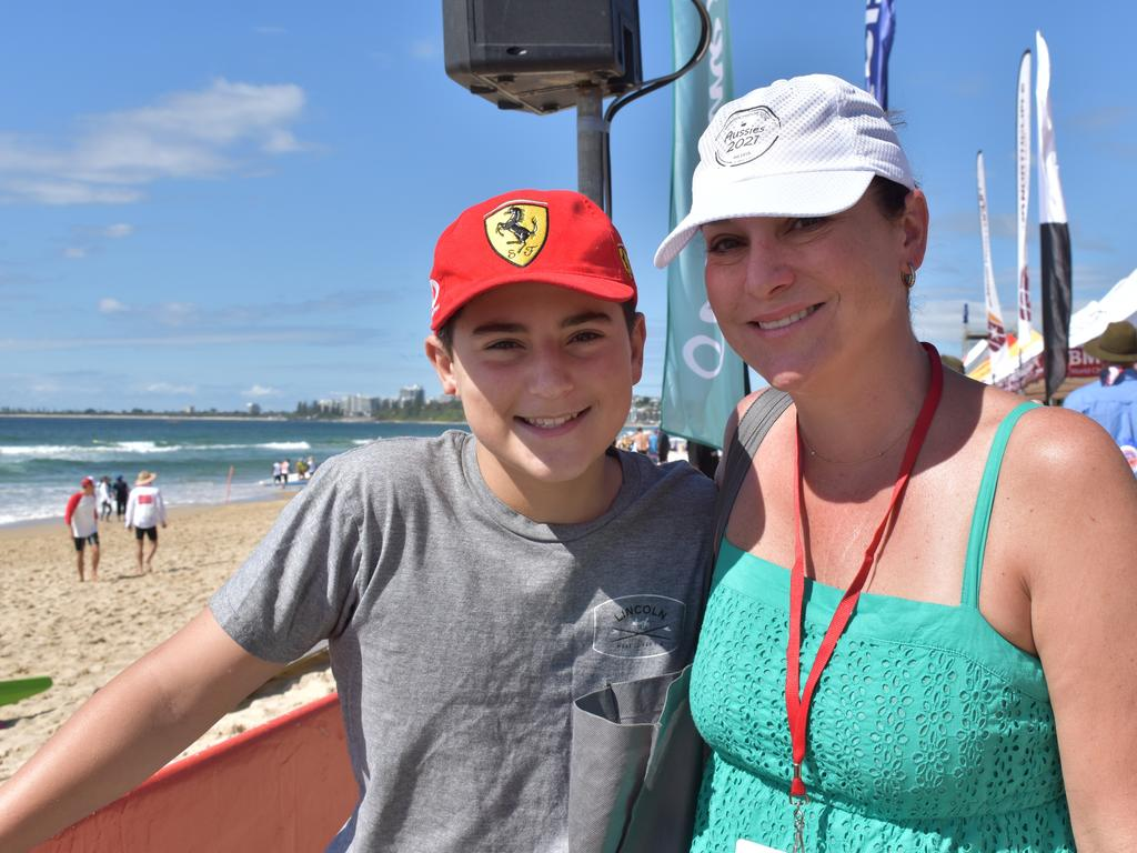 Jack and Sammy Beavis from Adelaide at the Aussies. Picture: Matty Holdsworth