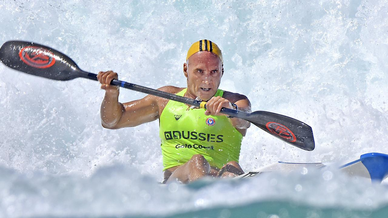 Grant Kenny, pictured at the Australian Surf Life Saving Championships at Broadbeach in 2019.