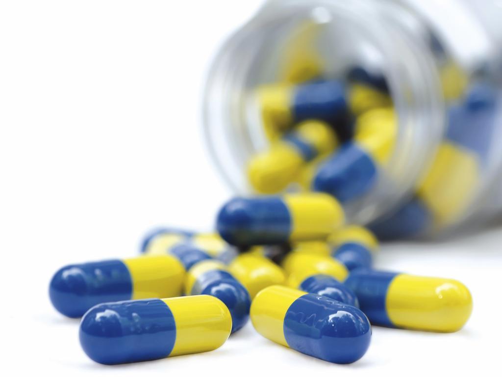 Antibiotic tablets.
