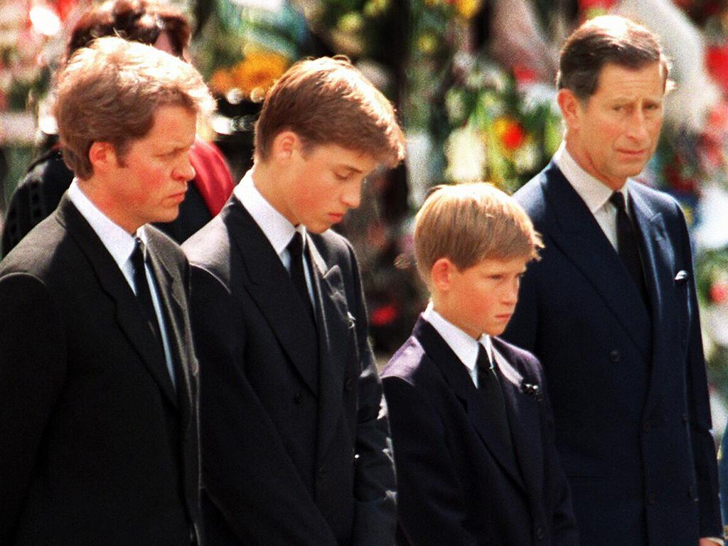 Earl Spencer, left, said he had been 'lied to' over William and Harry's involvement with the funeral and that he was 'told that they wanted to do it'.