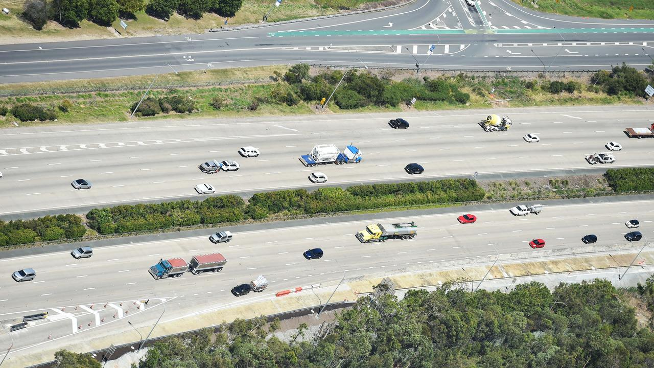 Traffic on the Pacific Motorway (M1) between Gold Coast and Brisbane. File image. Picture: Nigel Hallett