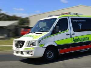 Passenger taken to hospital after two-vehicle crash